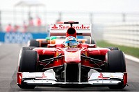 Qualifying, Fernando Alonso ESP, Scuderia Ferrari, F_150 Italia, F1, Korean Grand Prix, Yeongam, Korean.