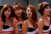 grid girls, F1, Korean Grand Prix, Yeongam, Korean.