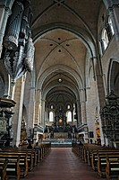 Nave with high altar, Trier Cathedral, Trier, Rhineland-Palatinate, Germany, Europe