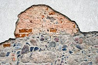 historical cracked wall background and texture