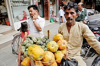 Fruit and vegetable seller, Kathmandu, Nepal, Asia