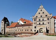 Burg Trausnitz Castle, Landshut, Lower Bavaria, Bavaria, Germany, Europe, PublicGround