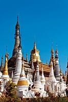 Stupas, Indein, Myanmar, Burma, Southeast Asia, Asia