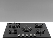 A kitchen cooktop on a kitchen bench