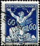 CZECHOSLOVAKIA _ CIRCA 1920: stamp printed in Czechoslovakia shows chainbreaker, Series, circa 1920