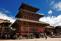 Bhairavnath temple, Taumadhi Square, Bhaktapur, Kathmandu Valley, Nepal, Asia
