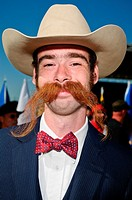 Contestant in the National Beard and Moustache Championships, in Lancaster, PA  October 8, 2011