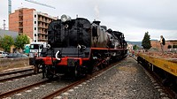 La Garrofeta Locomotive train in LLeida  Spain