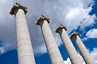 Four columns, Catalan Commemoration, Barcelona, Catalonia, Spain (thumbnail)