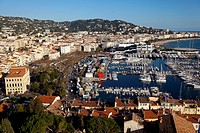 France, Cote D´Azur, Cannes, Vieux Port Old Harbour and old quarter of Le Suquet.