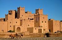 The Kasbah Amerhidil near Skoura, Souss-Massa-Drâa, Morocco, Africa