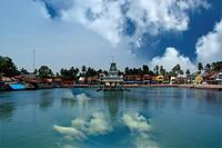 Suchindram temple dedicated to the gods Shiva, Vishnu and Brahma, protected by UNESCO. India