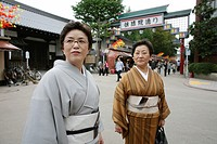 Kimono is the Japanese traditional dress code However, only older women are wearing it Youngsters prefer jeans and modern fashion style