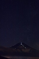 Starlit Sky Over Mount Fuji