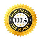 Vector illustration of a Good value for money label