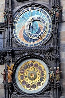 Old astronomical clock in Prague, Czech Republic The Horologe