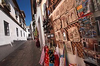 Tipycal souvenirs in a city street, Cordoba, Andalusia, Spain, Europe