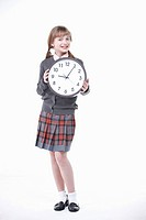 An American student with clock