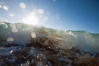 Waves Crashing Down On Shore