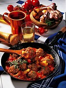 Greek meat balls, Greece, recipe available for a fee