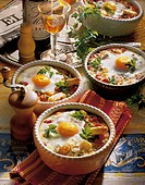 Vegetable casserole with egg, Spain, recipe available for a fee