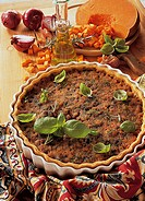 Juicy pumpkin tart, France, recipe available for a fee
