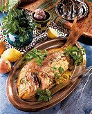 Stuffed bream, Libya, recipe available for a fee