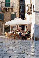 Restaurant in the historic town centre, Trg Brace Radic Square, Split, Middle Dalmatia, Dalmatia, Adriatic coast, Croatia, Europe, PublicGround