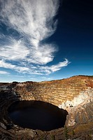 Copper mine open pit Atalaya Rio Tinto Spain