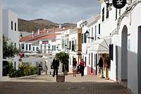 Pedestrian area in Fornells, Minorca, Menorca, Balearic Islands, Mediterranean Sea, Spain, Europe