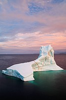 Iceberg off of Goose Cove, Newfoundland, Canada