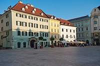 Hlavna Square, Bratislava, Slovakia, Europe