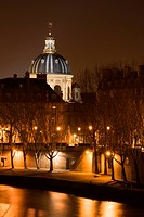 The French Institute and the Seine river at night _ Paris, France