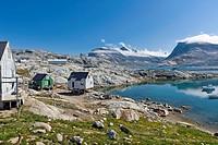Inuit settlement of Tiniteqilaaq, Sermilik Fjord, East Greenland, Greenland