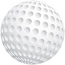Vector illustration of golf ball. Simple linear gradient, no gradient mesh. EPS 8 file format