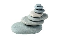 Balance. A construction from a pebble. It is isolated on a white background