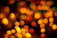 Abstract Christmas tree lights glittering in different colors background
