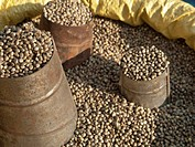 Pepper with measure cups, for sale in the streets of Kathmandu, Nepal, South Asia