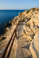 Footpath to the see from Protaras area at Cape Gkreco in Cyprus
