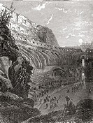 The Colosseum, Rome, Italy before the 1874 excavations  From Italian Pictures published 1895