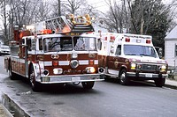 Fire truck and ambulance on a emergency call