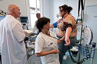 Photo essay at PitiÚ SalpÛtriÞre Hospital in Paris, France. Department of nutrition and sports medicine. Stress test.
