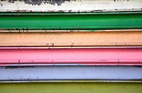 Painted Metal Garage Door, Close_Up