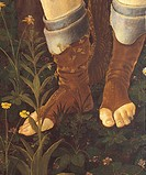 Primavera, by Sandro Filipepi Known as Botticelli, 1478 about, 15th Century, thick tempera on panel, cm 203 x 314 . Italy, Tuscany, Florence, Uffizi G...