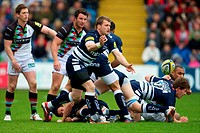 05 05 2012 Stockport, England Sale Sharkss English wing Mark Cueto in action during the Aviva Premiership match between Sale Sharks v Harquins The las...