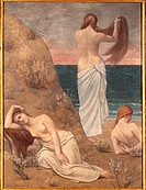 Young Girls at the Seaside, by Pierre Puvis de Chavannes, 1879, 19th Century, oil on canvas, cm 205 x 154. France, Ile de France, Paris, Muse dOrsay, ...