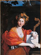 The Cumaean Sibyl, by Domenico Zampieri known as il Domenichino, 1616 _ 1617, 17th Century, oil on canvas, cm 123 x 89. Italy, Lazio, Rome, Borghese G...