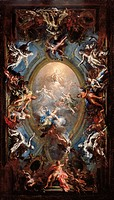 Triumph of Virtue, by Giacomo Del Po, 1705 _ 1707, 18th Century, oil on canvas, cm 101 x 63. Italy, Campania, Naples, Capodimonte National Museum and ...
