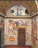Resurrection, by Unknown Artist, 1513 _ 1515 ante, 16th Century, fresco. Italy, Lombardy, Milan, San Maurizio al Monastero Maggiore Church. Decoration...