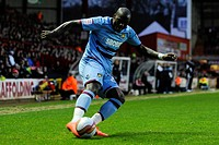 17 04 2012 Bristol, England West Ham Defender Guy Demel CIV in action during the first half of the npower Championship football match between Bristol ...